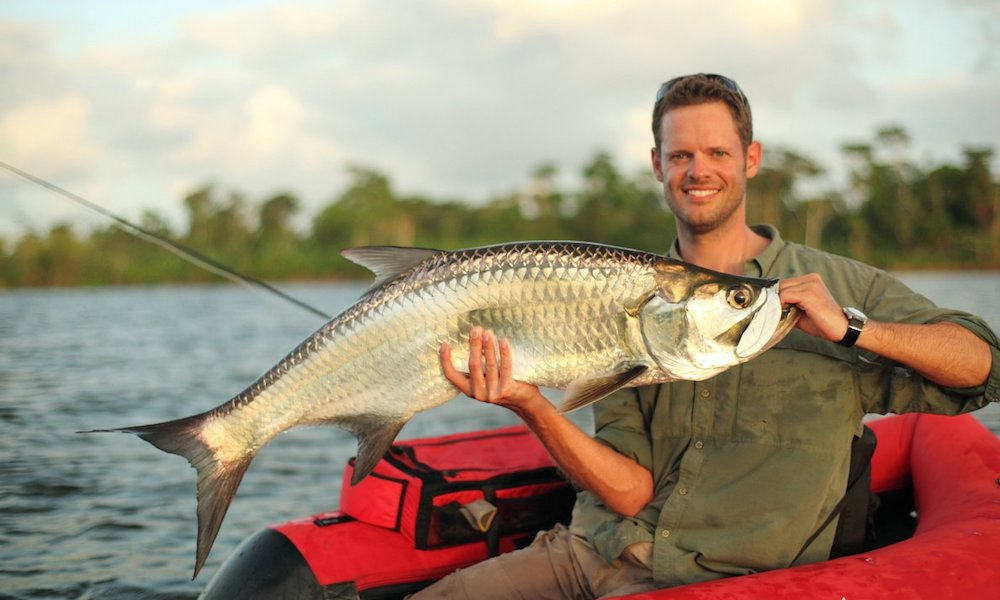 Jan Kristensen on fishing for tarpon out of a float tube